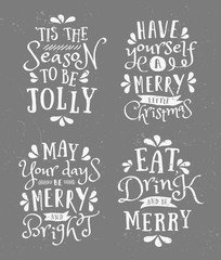 Christmas Typographic Designs Collection