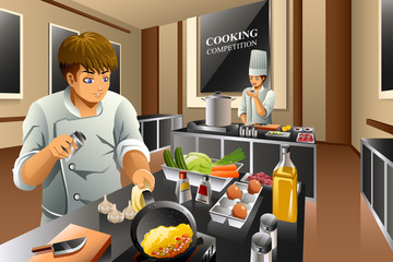 Chef in Cooking Competition