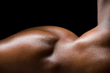 one mans shoulder