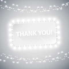 Simple Thank You Card with Christmas Lights