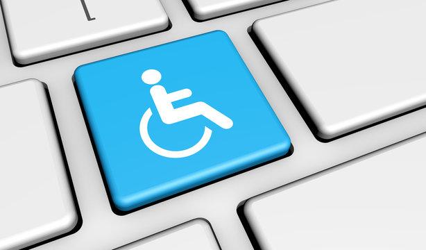 Web Accessibility Icon On Keyboard