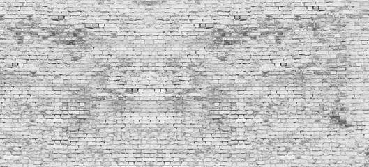 Long white brick wall