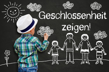 Kinderzeichnung - Geschlossenheit zeigen!