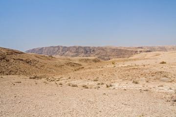 Mountain landscape in Judean desert. Metzoke Dragot, Israel.