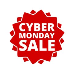 Cyber Monday Sale Sign Icon Button