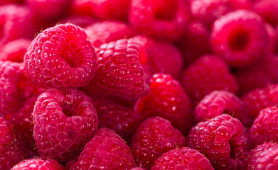 Raspberries food background