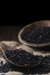 Portion of Black Rice