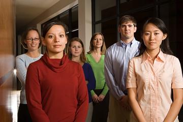 Portrait of six teachers