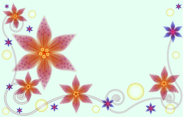 abstract floral background for greeting card