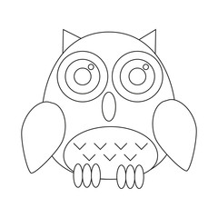 Simple owl coloring book