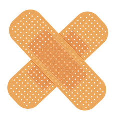 adhesive bandage on white. vector illustration