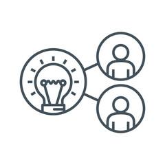 Share ideas icon