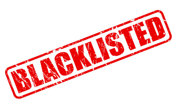 BLACKLISTED red stamp text