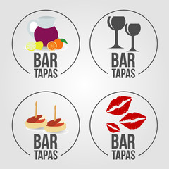 4 tapas bar icons