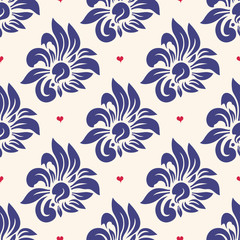 Wall Mural - Trendy seamless floral pattern
