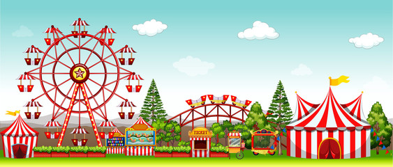 Amusement park at daytime