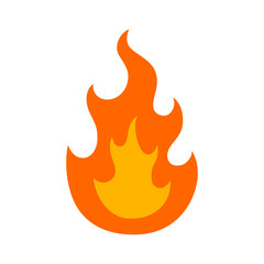 Burning fire (flame) flat icon for apps and websites