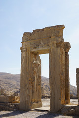 Ancient ruins of Persepolis, the ceremonial capital of the Achae