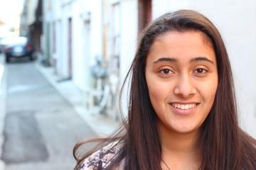 Young ethnic teenage girl isolated