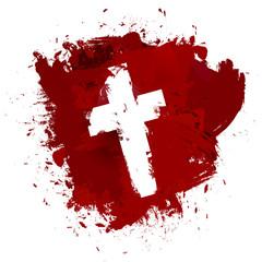 Christian cross sign