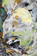 Хаос краски на палитре