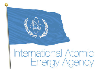 iaea, international atomic energy agency flag