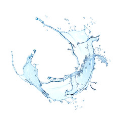 Wall Murals Water blue water splash isolated on white background