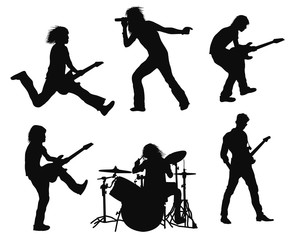 music rock perform vocalist guitarst action