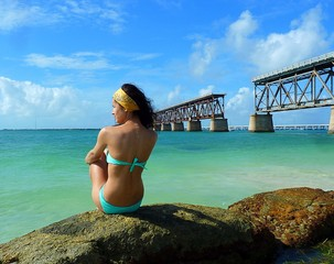 old bridge, Florida Keys