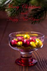 Chocolate balls Christmas Greetings