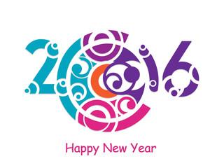 Creative 2016 year design