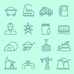 Industry icons, thin line design