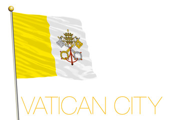 holy see, vatican state city flag