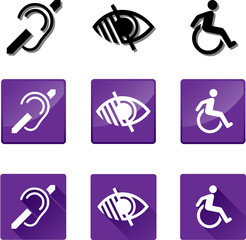 Deaf, Blind, Disabled Symbols.
