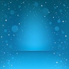 blue snow podium
