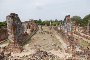 Thai Temple at Ayutthaya, Thailand