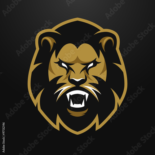Angry Lion logo, symbol