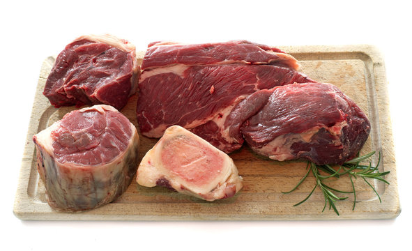 group of meat for Pot-au-feu