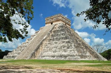 Kukulcán-Pyramide in Chichén Itzá, Yucatán, Mexiko