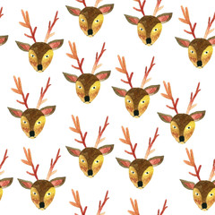 Deer Pattern Seamless Watercolor-01.jpg