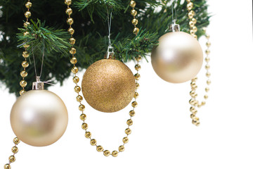 Christmas tree, new year,  balloons, Santa Claus