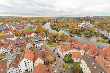 Blick von der Stadtkirche Nürtingen