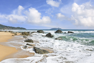 Stunning scenery and untouched beach at Sanya, Hainan Island, China