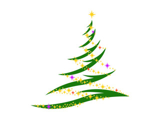 Symbol of the Christmas tree on a white background