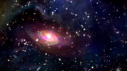 small galaxy in the space