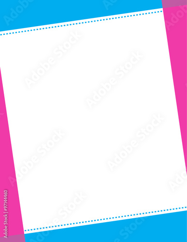 blue pink invitation border background stock image and royalty free