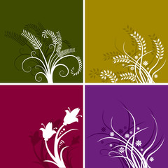 Choice of four floral backgrounds