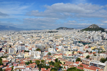 athens capital city of greece landscape eps10