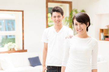 portrait of asian couple lifestyle image