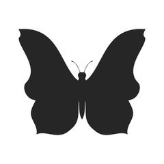 Simple butterfly silhouette shape